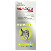 Bravecto Spot-on for Small Cats (1.2 - 2.8 kg)