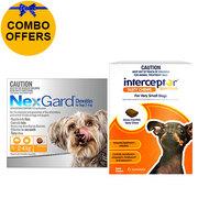 Buy NEXGARD and INTERCEPTOR SPECTRUM COMBO Bundle Pack online