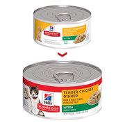 Hills Science Diet Kitten Tender Chicken Dinner Canned Wet Cat Food