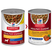 HILL'S SCIENCE DIET ADULT 7+ CUISINE CHICKEN CARROTS STEW CAN DOG FOOD
