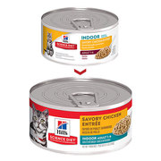 HILL'S SCIENCE DIET ADULT INDOOR SAVORY CHICKEN ENTRÉE CANNED CAT FOOD
