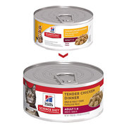HILL'S SCIENCE DIET ADULT TENDER CHICKEN DINNER CANNED CAT FOOD