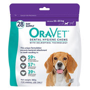Oravet Dental Chews for Medium Dogs (11 to 23 kg)