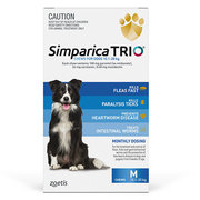 Buy Branded Simparica Trio for Medium Dogs at Lowest Price |Flea and T