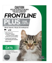 Buy Frontline Plus Flea and Tick Control for Cats & Kittens - VetSuppl
