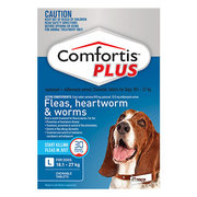 Buy Comfortis Plus Flea,  heartworm,  worming Tablets For Dogs Online -