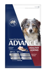 Buy Advance Ageing Medium Breed Chicken with Rice Dry Dog Food